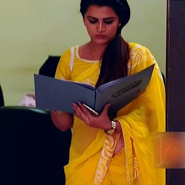 Aishwarya gowda telugu tv actress Akka MS1 16 saree caps