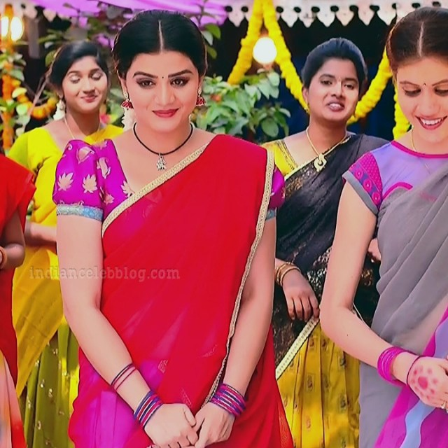 Aishwarya gowda telugu tv actress Akka MS1 3 saree photo
