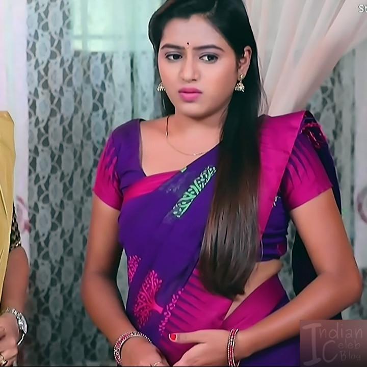 Deepika aradhya kannada TV actress Bili Hendthi S1 7 Sari photo
