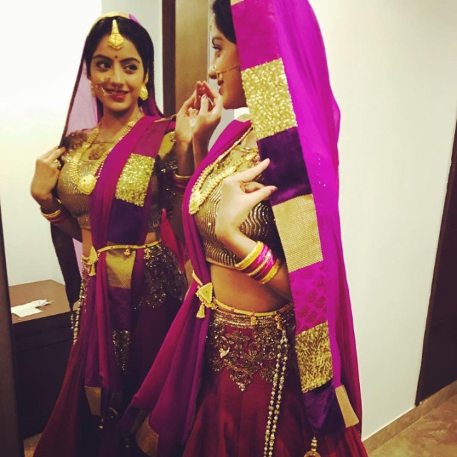 Deepika singh hindi TV actress CTS3 7 hot lehenga photo