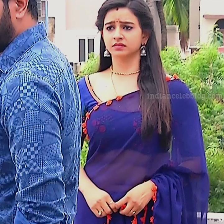Divya ganesh tamil tv actress sumangali S5 4 saree navel photo