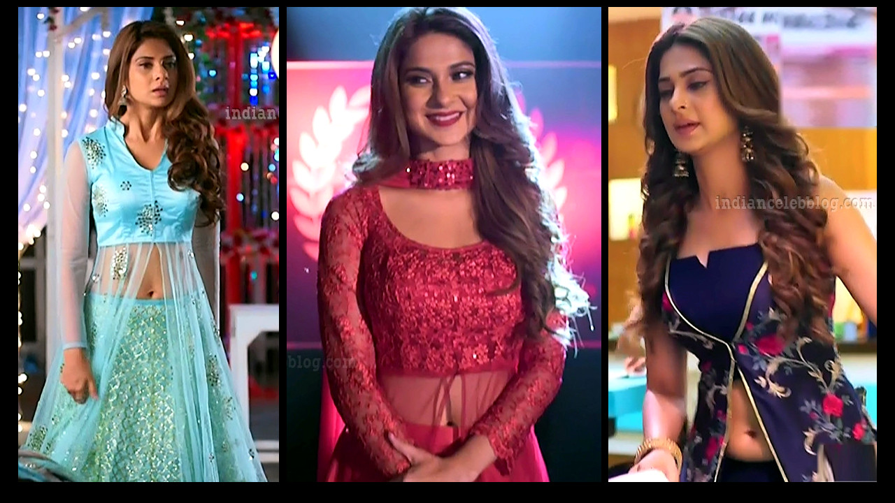 Jennifer Winget show off navel midriff in crop top hindi tv caps