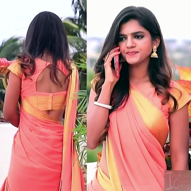 Kannada Serial actress Tapsee Satyam shivam SS1 5 Sari pics