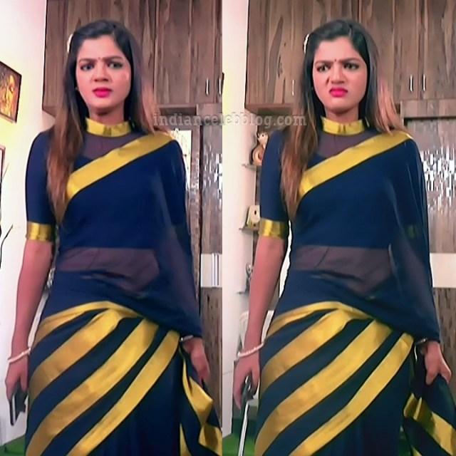 Kannada Serial actress Tapsee Satyam shivam SS1 8 Saree pics