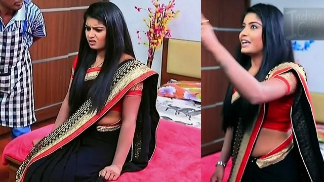 Kannada TV actress Kinnari S1 3 sari pics