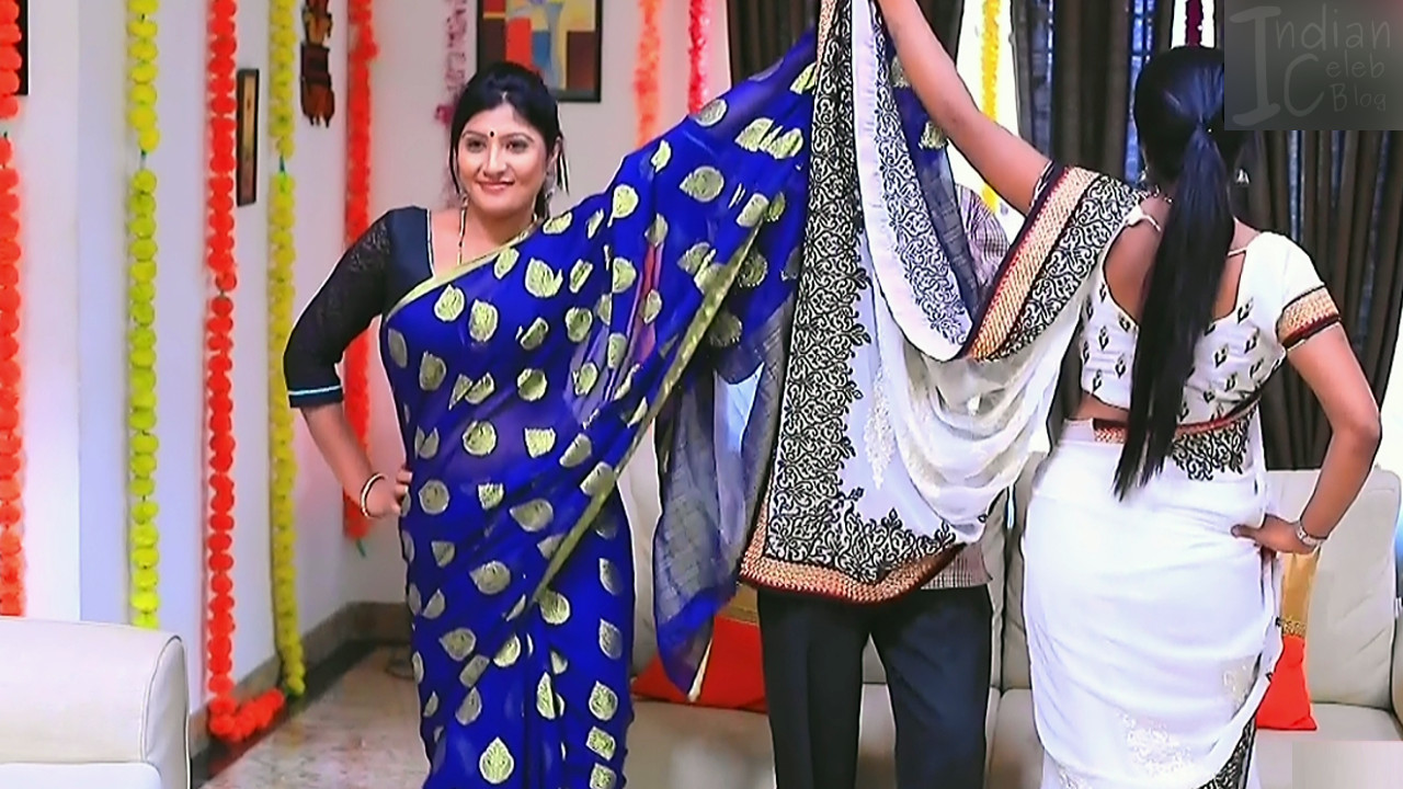 Kannada TV actress Kinnari S1 8 saree photo