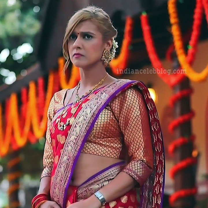 Krystyna devina lason kannada tv actress Bili HS1 1 saree photo