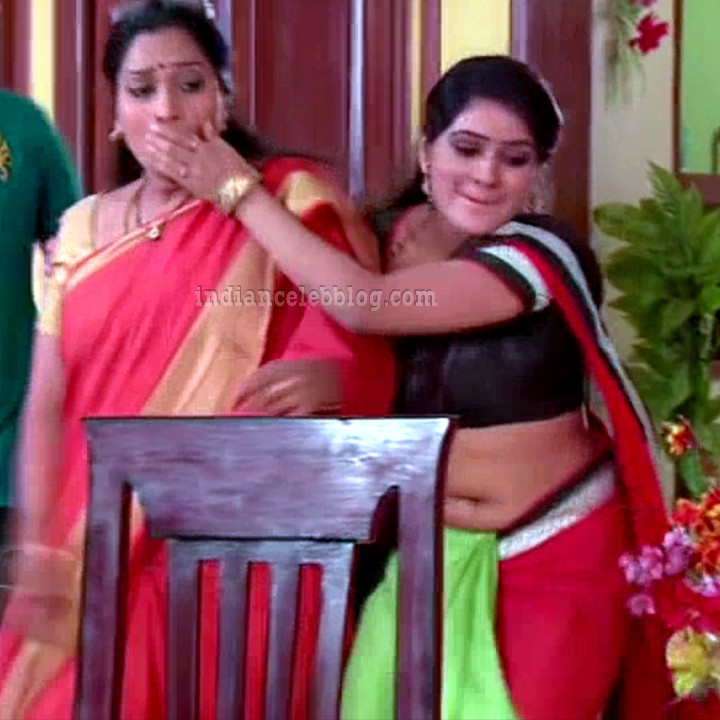 Monisha telugu serial actress nandhini VNS2 11 hot saree photo