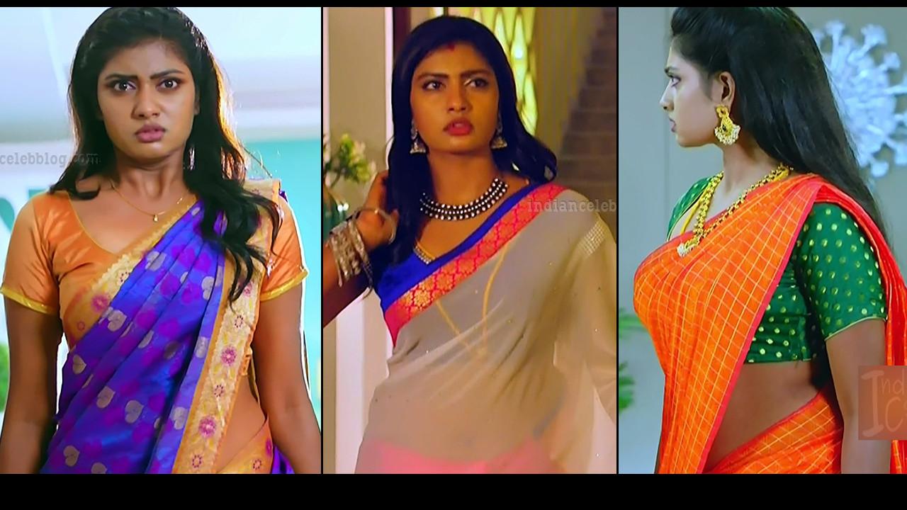 Nakshatra Srinivas sexy midriff show in Saree Maya serial hd caps