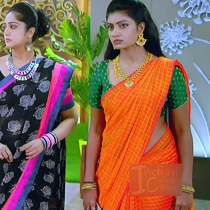 Nakshatra Srinivas Tamil TV serial Maya S1 2 Saree photo
