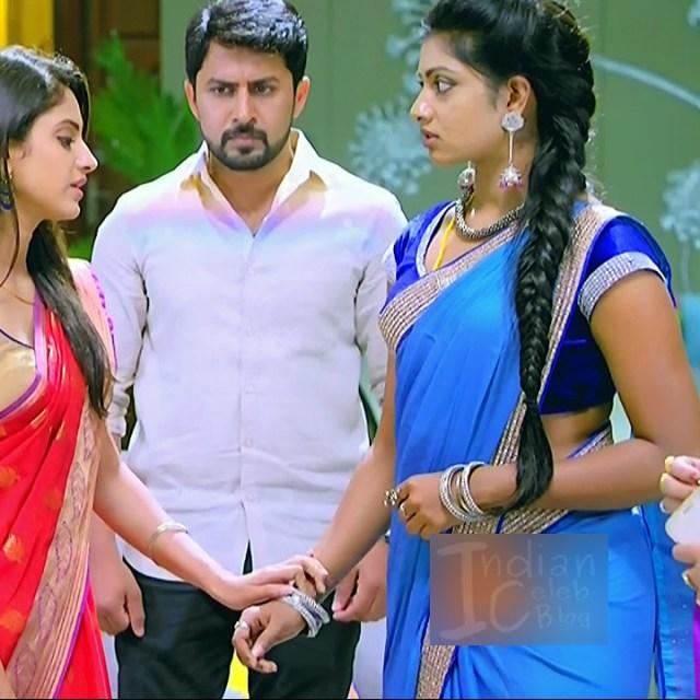 Nakshatra Srinivas Tamil TV serial Maya S1 5 Saree caps