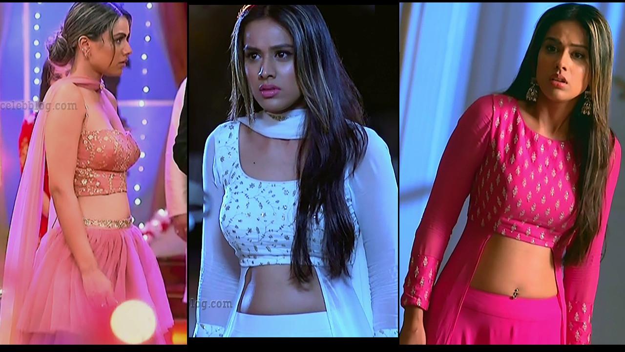 Nia sharma sexy pierced navel cleavage show Hindi tv hd caps