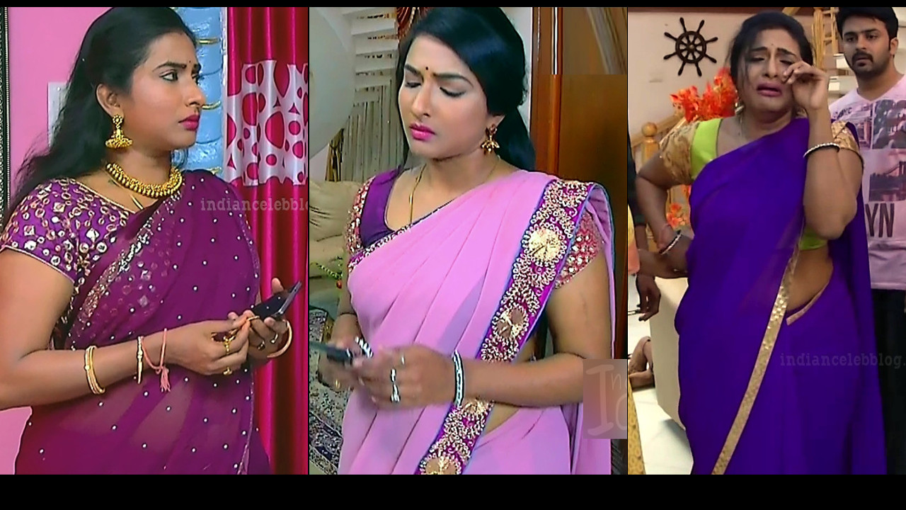 Ramya Shankar Tamil TV actress Saree Photos n Caps