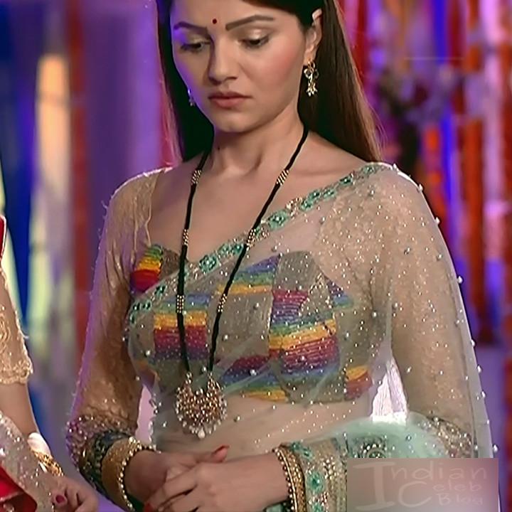 Rubina dilaik Hindi TV actress Shakti AS6 12 hot Sari photo
