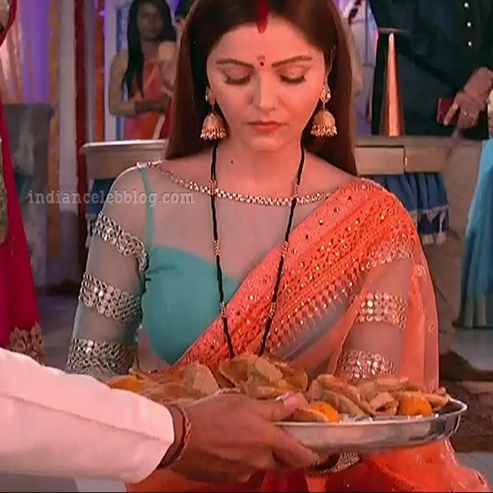 Rubina dilaik Hindi TV actress Shakti AS6 4 hot Saree caps