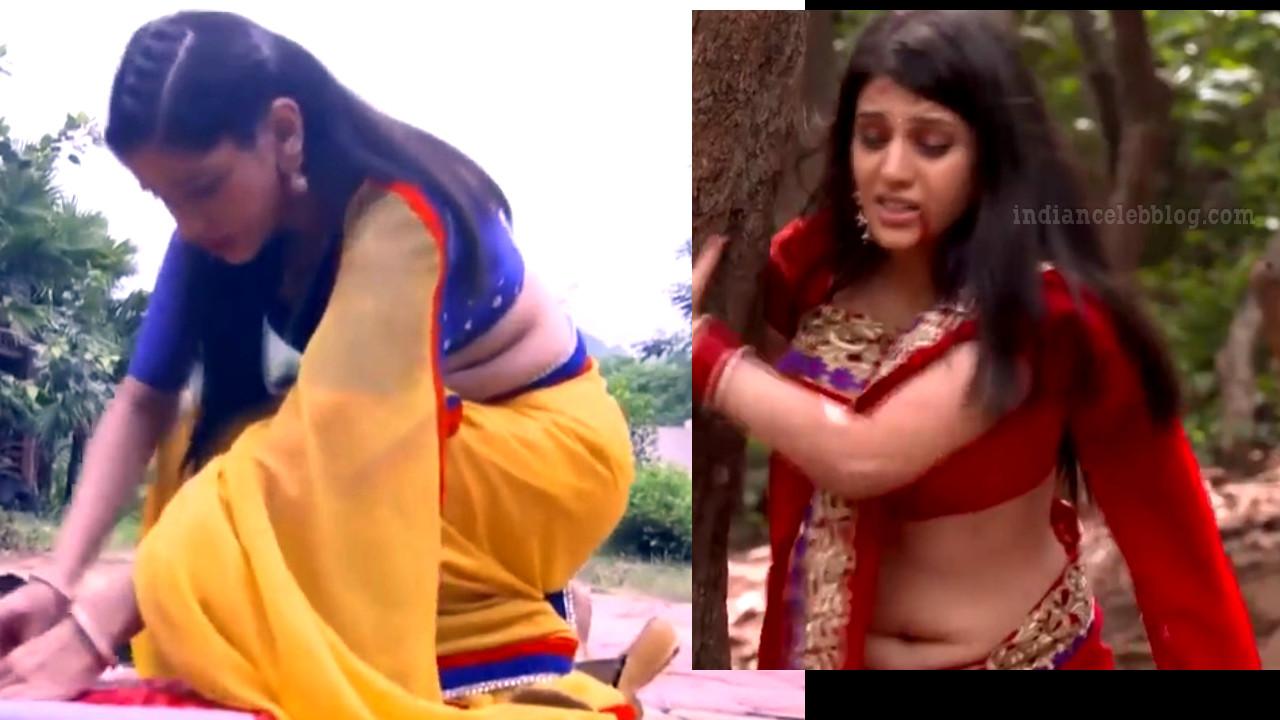 Simran Pareenja saree navel show Kaala teeka tv Video