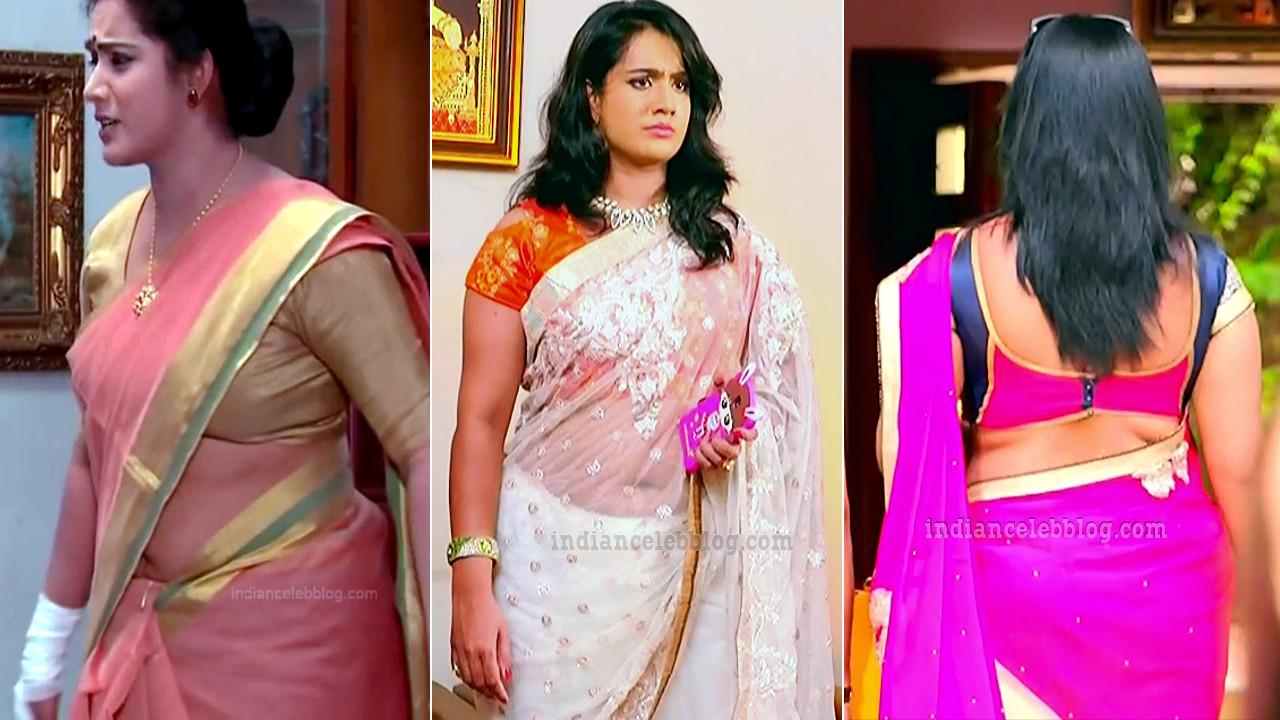 Sravani Telugu TV actress saree navel show HD caps