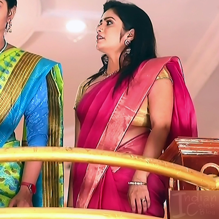 Srithika tamil TV actress KVS1 12 hot sari caps