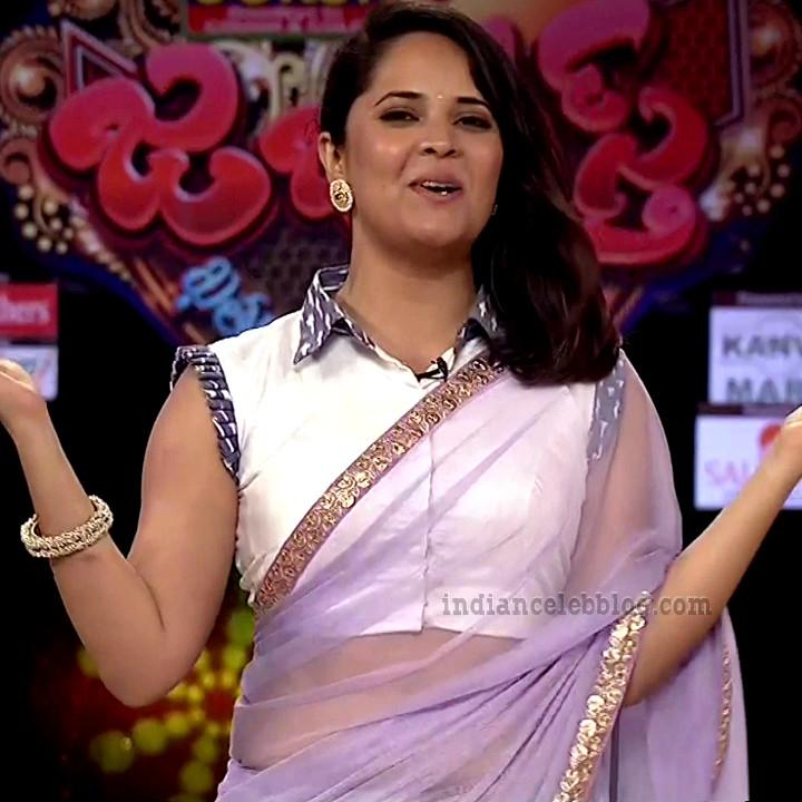 Anasuya teleugu TV anchor Reality show 10 hot sari