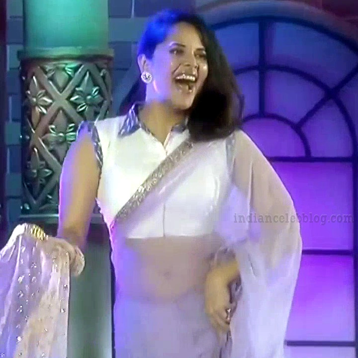 Anasuya teleugu TV anchor Reality show 8 hot sari dance