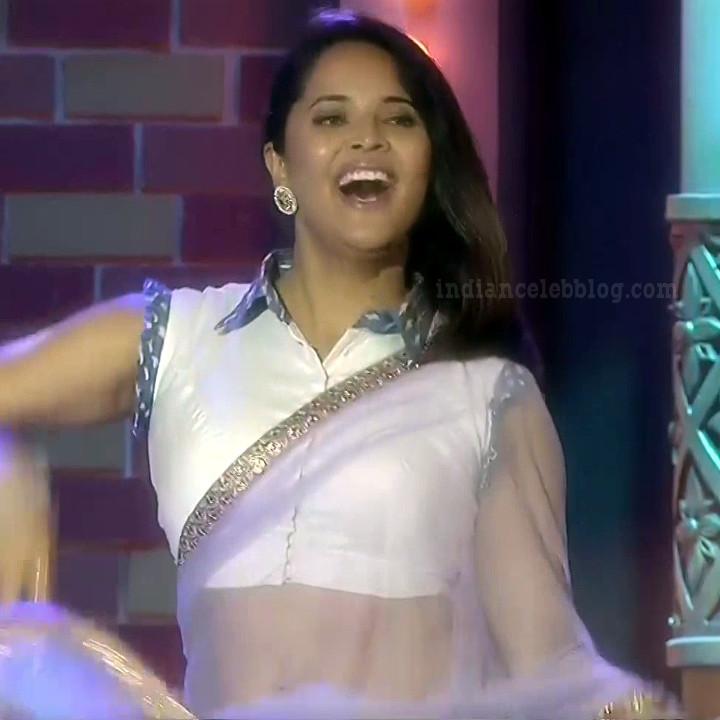 Anasuya teleugu TV anchor Reality show 9 hot sari dance