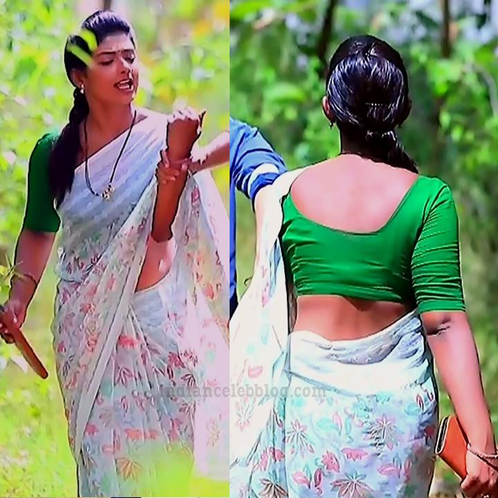 Bhoomi shetty kinnari kannada serial actress S4 11 sari pics