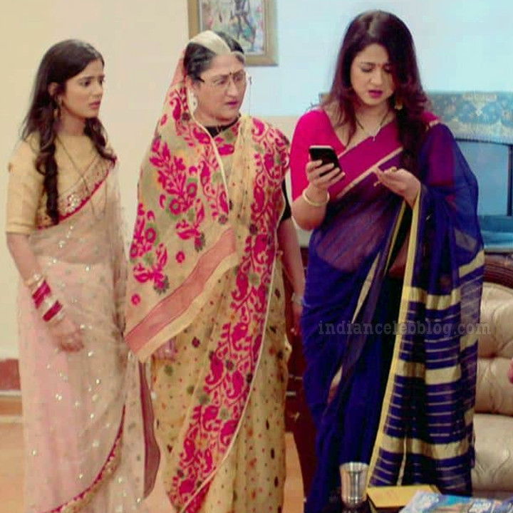 Keerti gaekwad Sasural simar ka TV serial S1 6 saree pic
