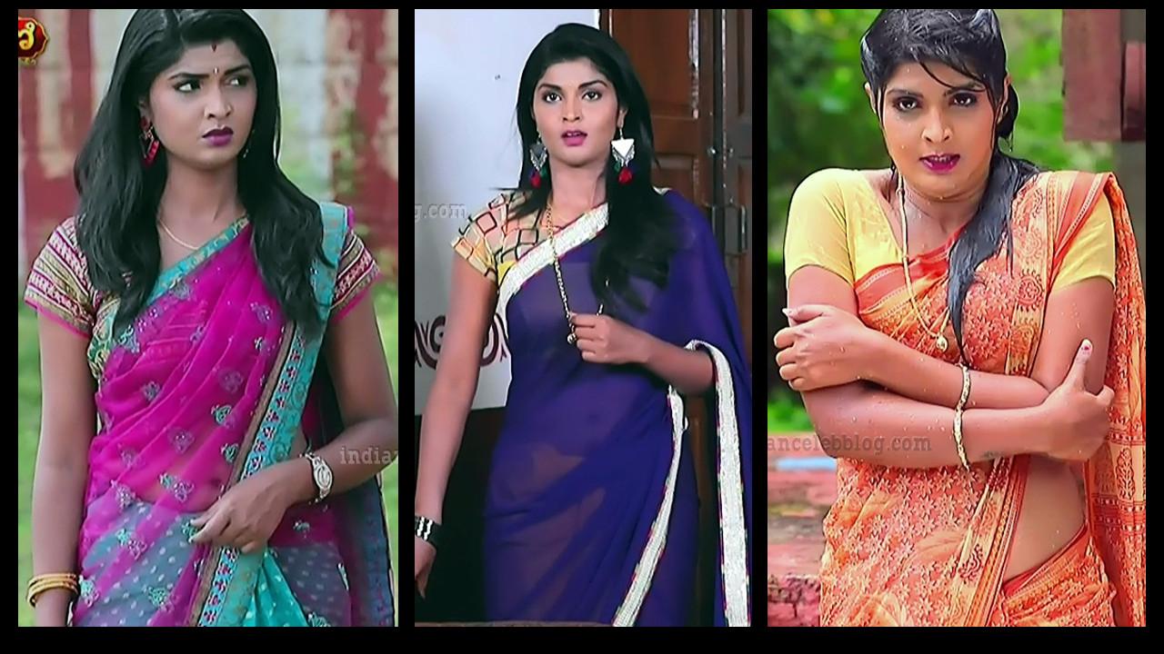 Manya Anand Kannada tv hot saree navel show hd caps