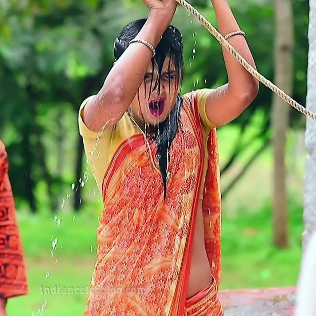 Manya anand kannada TV actress BiliHS2 2 saree photo