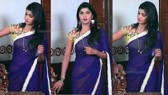 Manya anand kannada TV actress BiliHS2 4 hot saree pics