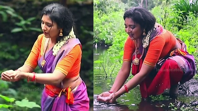 Sharanya turadi nenjam marppathillai actress S1 7 sari pics
