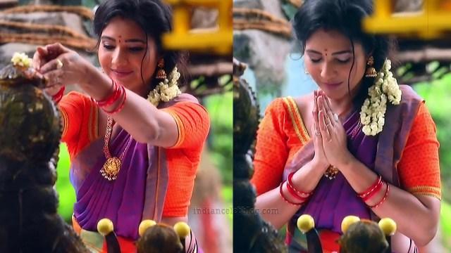 Sharanya turadi nenjam marppathillai actress S1 8 sari pics