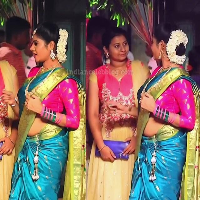 Nivisha tamil tv actress eeramana rojave s1 2 saree pics