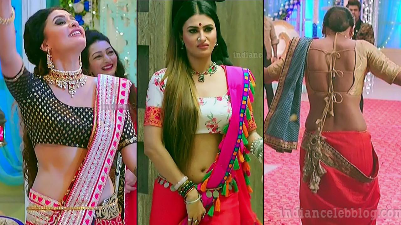 Hindi TV actress Pavitra punia backless sari pics
