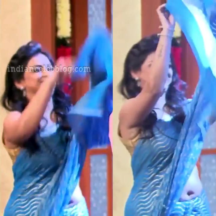 Shwetha chengappa Majaa talkies s2 14 hot sari pics