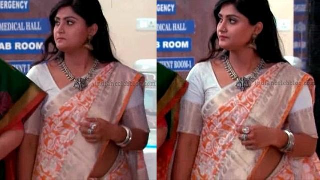 Tena Manasulu Telugu serial actress UKAS1 4 saree photo