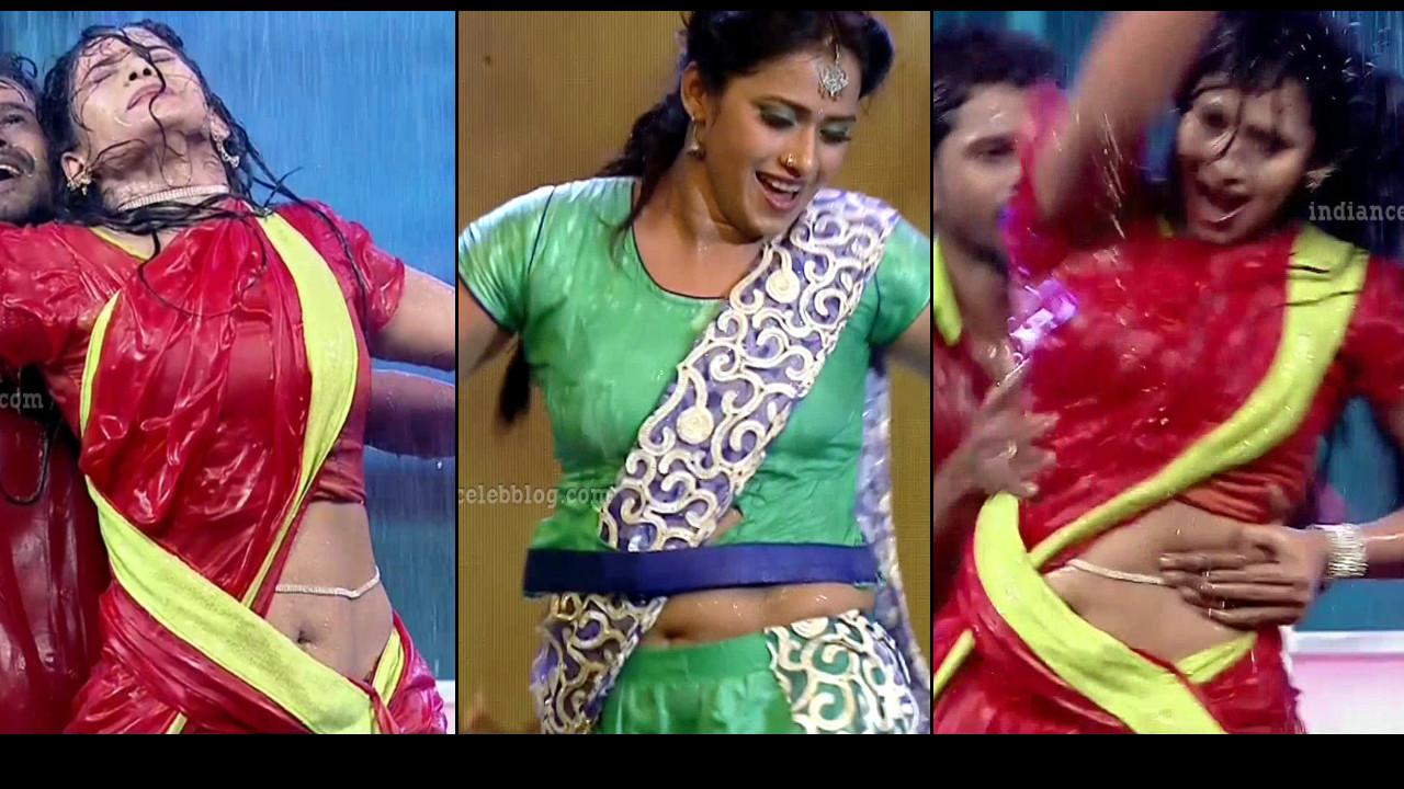 Bhavana Telugu TV anchor Rangasthalam hot dance HD Caps