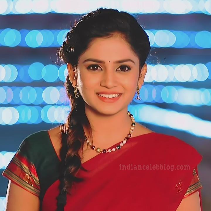 Raksha gowda Putmalli serial actress S2 2 saree photo