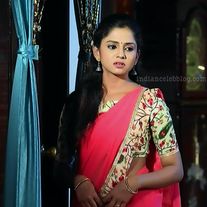 Raksha gowda Putmalli serial actress S2 6 saree photo