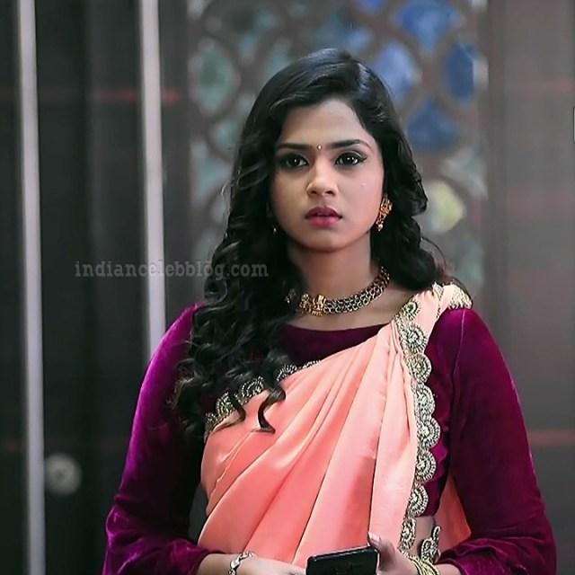 Raksha gowda Putmalli serial actress S2 7 saree pic