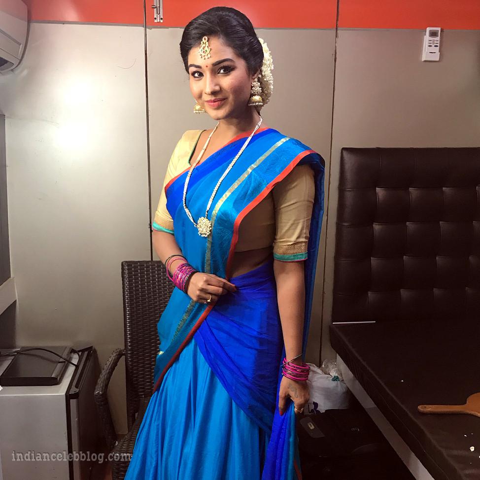 Sharanya turadi nenjam marappathillai actress CTS1 18 saree photo