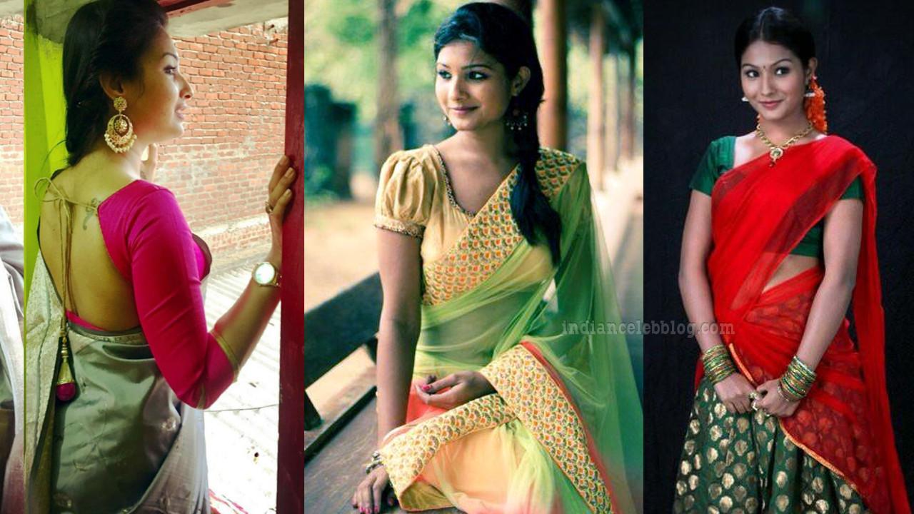 Sharanya turadi nenjam marappathillai actress CTS1 34 saree photo