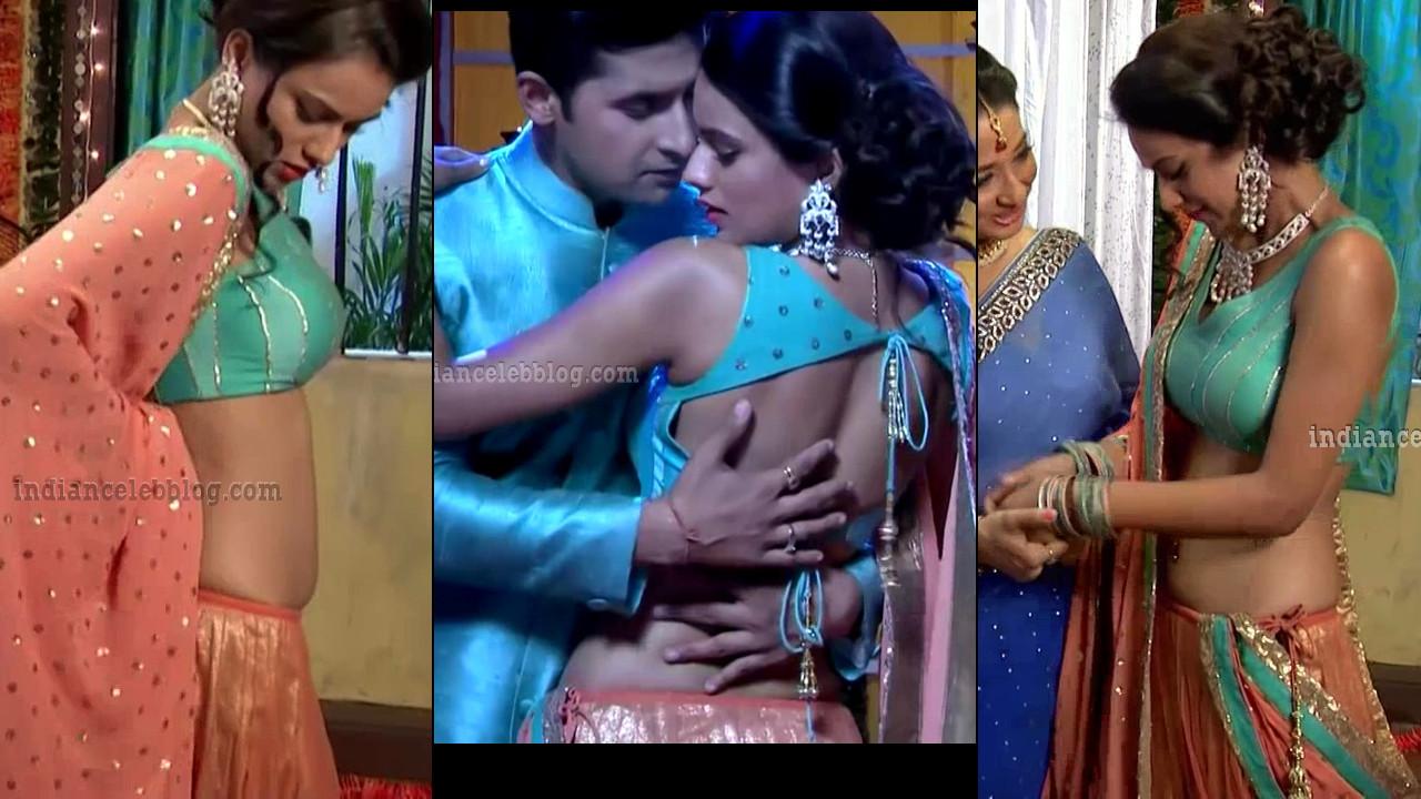 Nia Sharma hot backless lehenga choli Jamai raja HD caps