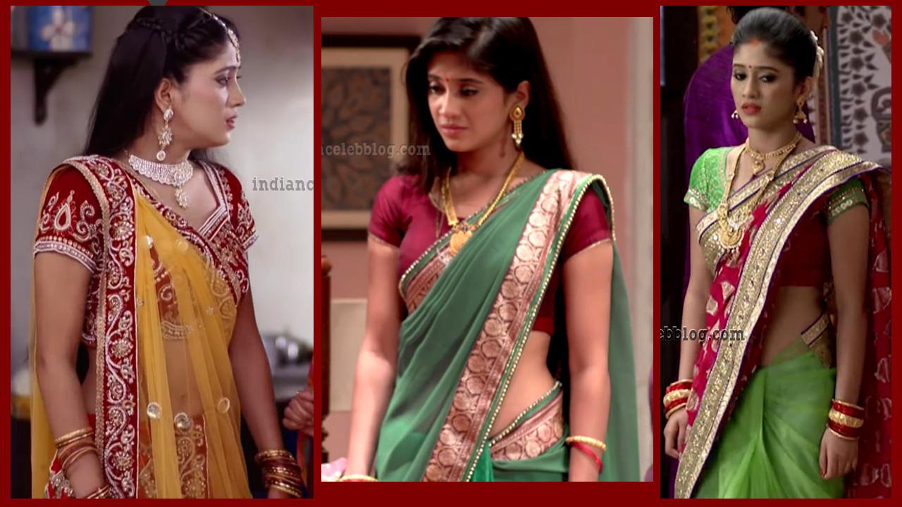 Shivangi Joshi Saree navel show Begusarai Caps