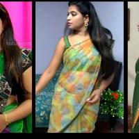 Akhila Tamil tv actress Hot saree show HD caps