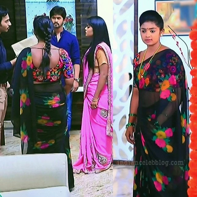 Bhoomi shetty Kinnari actress S5 2 saree pic