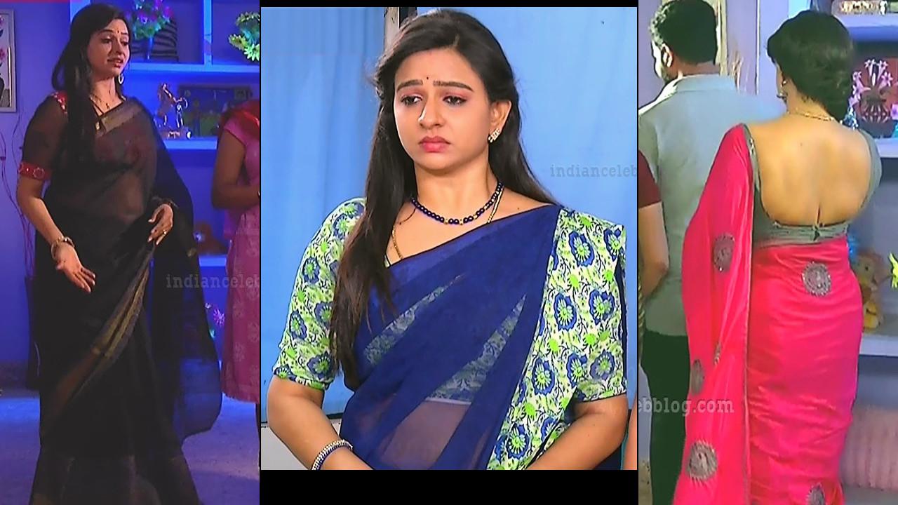 Divya ganesh Sumangali serial actress hot Saree caps