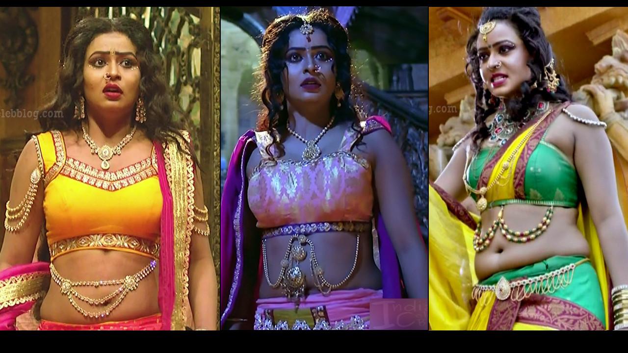 Meghana Khushi sexy navel n cleavage show HD tv caps