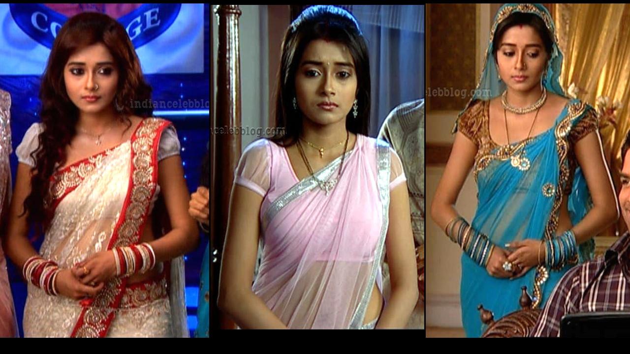 Tina Dutta Uttaran serial hot Saree caps