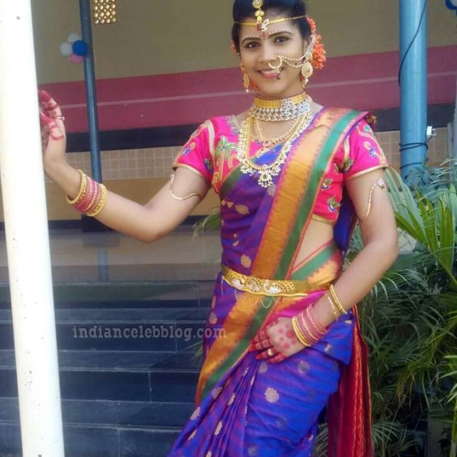 Sangeetha Kamath Telugu TV actress CTS1 2 hot saree photo
